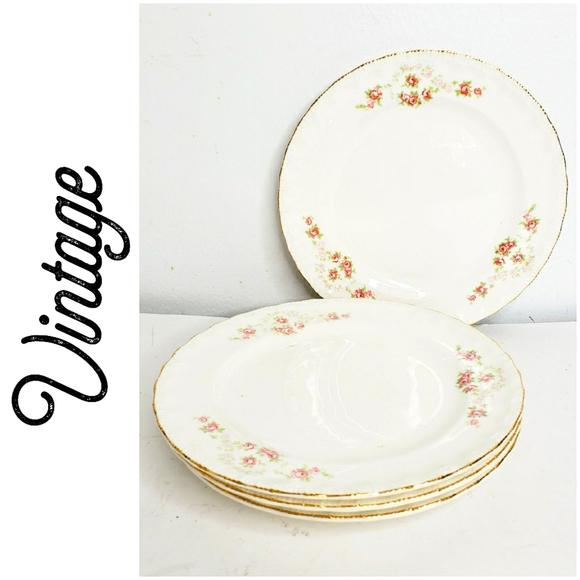 Vintage china bread and butter plates  5